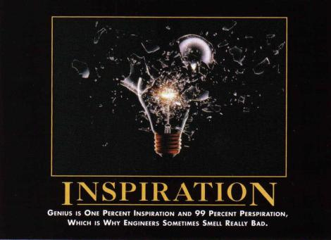 Inspiration from Perspiration