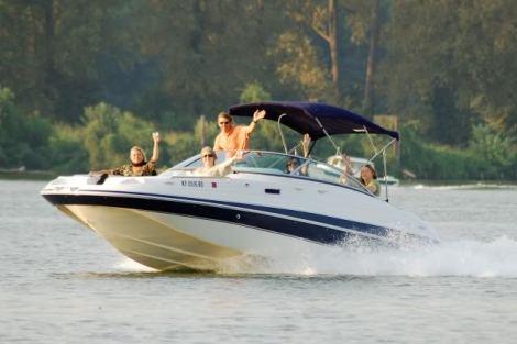 Boat-Waving People