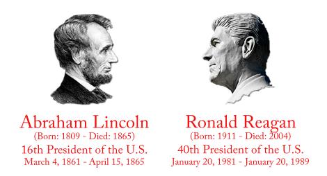 Lincoln and Reagan