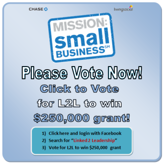 "Click to Vote for ""Linked 2 Leadership"""