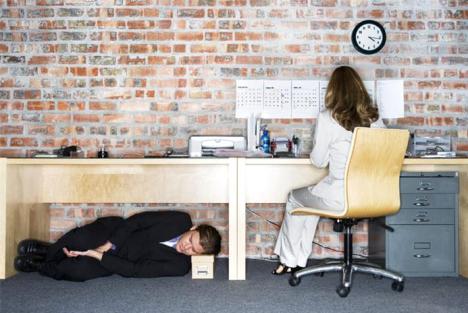 Sleeping Under Desk